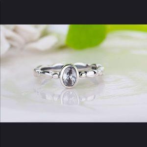 925 Sterling silver & CZ ring
